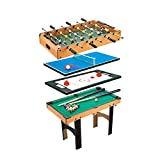 Calma Dragon 6611, Mesa Multijuegos, 4 en 1, (Medidas: 87 x 43 x 73cm) Billar, Ping Pong, Hockey y Futbolín, Regalo ideal para toda la Familia, Multigame...
